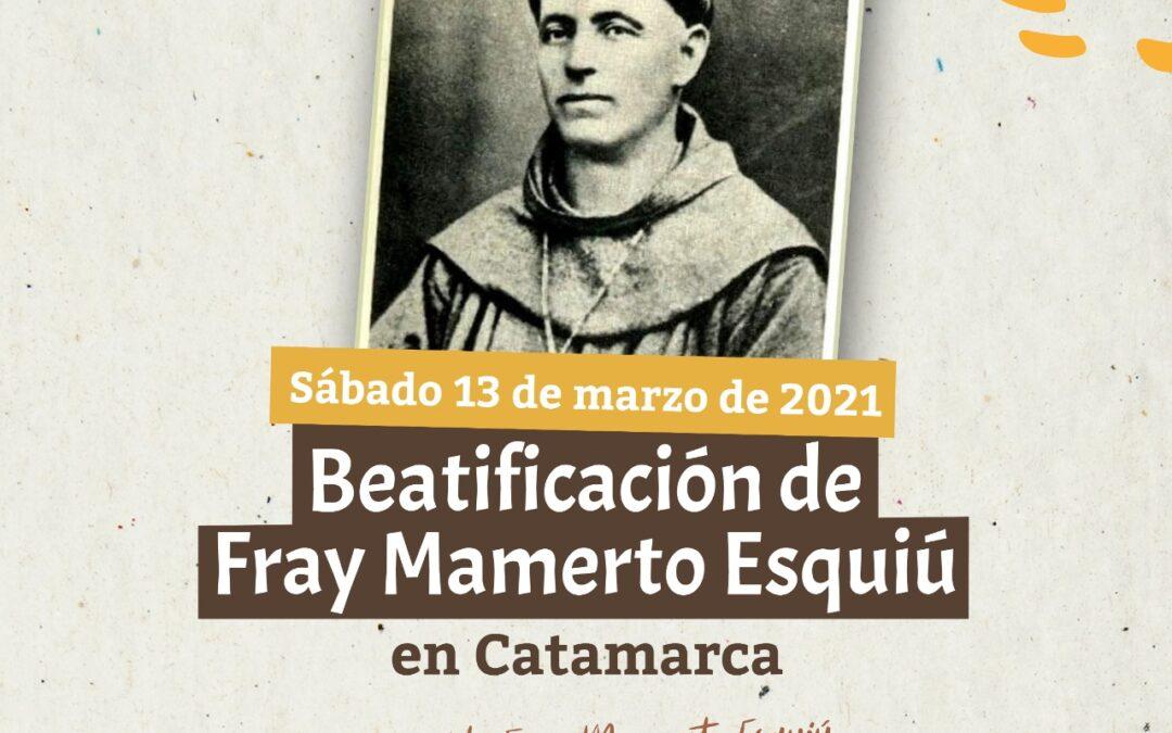 Convocatoria al concurso para el logotipo de la beatificación de Esquiú