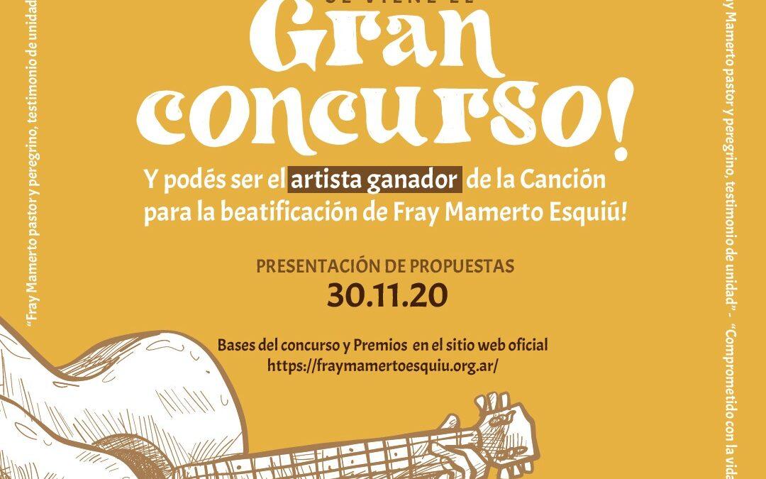 Convocatoria al concurso para la canción oficial de Fray Mamerto Esquiú